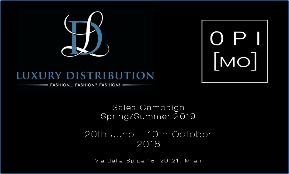 OPI[MO] SS19 campagna vendite