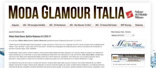 Moda Glamour Italia parla di Opificio Modenese