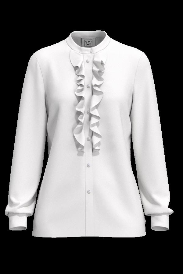 Camicia con rouches davanti bianca OPI[MO] vuoto
