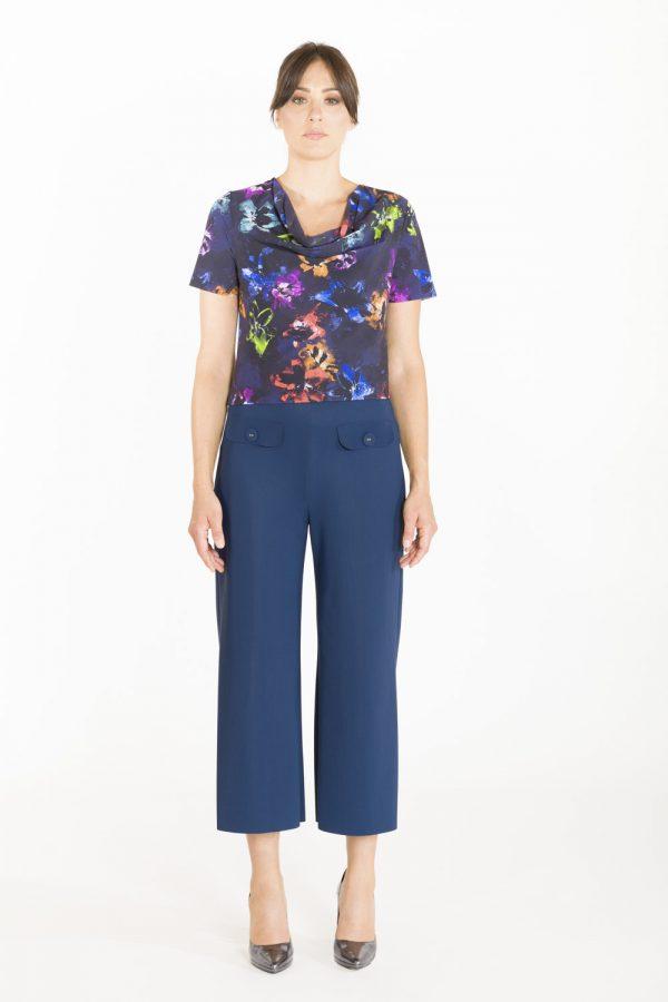 Pantalone a coulotte OPI[MO] blu