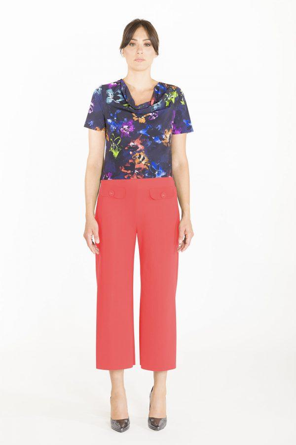 Pantalone a coulotte OPI[MO] corallo