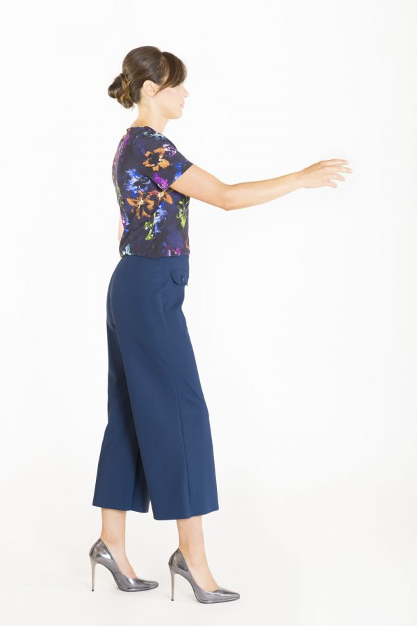 Pantalone a coulotte OPI[MO] laterale