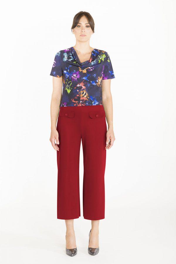 Pantalone a coulotte OPI[MO] mattone