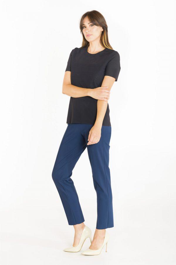 T-shirt classica in tessuto forato nero OPI[MO] mood