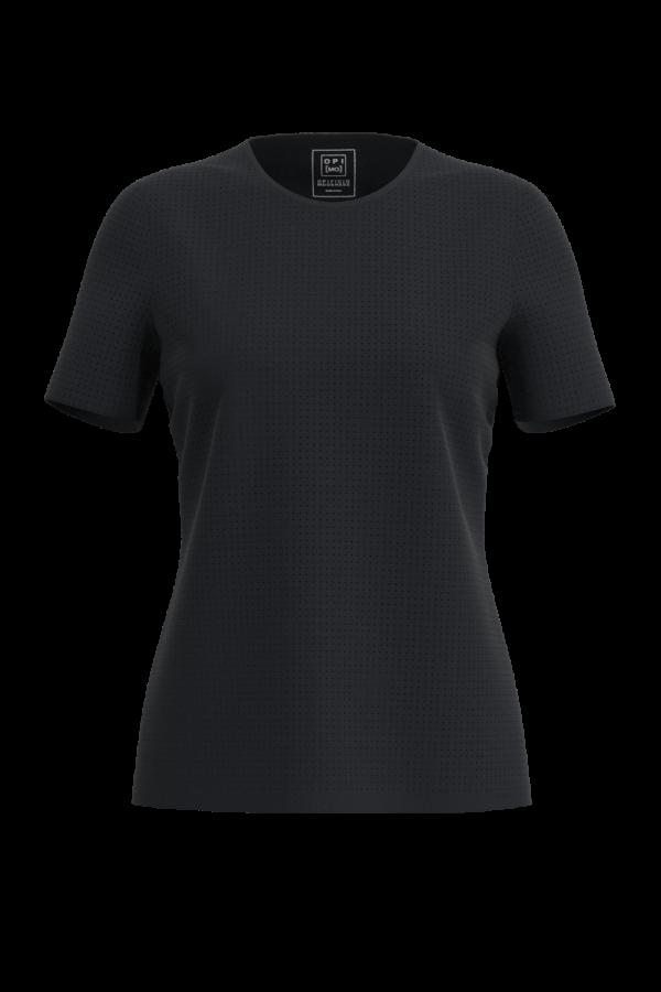 T-shirt classica in tessuto forato nero OPI[MO] vuoto