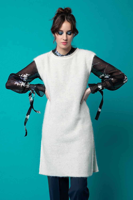 Maglione bianco donna senza maniche OPI[MO] fw20-21